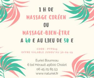 offre massage Cholet